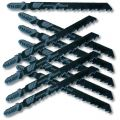 "Kent T144DP 10 pcs Pack 4.0"", 6 TPI HCS T-Shank Jig Saw Blades, For Precision Cuts in Hard and Soft Wood"