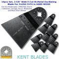 "KENT 10x 2-5/8"" Wide Oscillating E-Cut Blade For Hard Wood Fit Multimaster,Bosch"