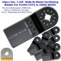 "KENT 10pcs 1-3/8"" Oscillating E-Cut Blade, For Hard Wood, Fits Fein Multimaster, Bosch, Secco, Milwaukee"
