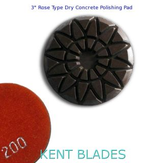"3"" Grit 200, Rose-Type Dry Concrete Polishing Pad"