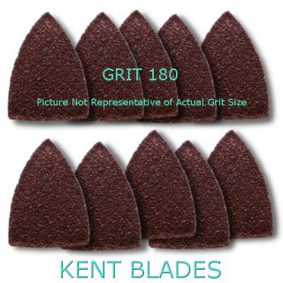 10 pieces Grit 180 FINGER SIZE Sandpapers Triangular Shape Velcro Style