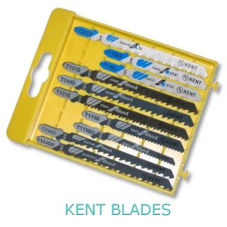 Kent 10 pcs Assorted T-Shank Jig Saw Blades For Metal, Aluminium Hard and Soft Wood