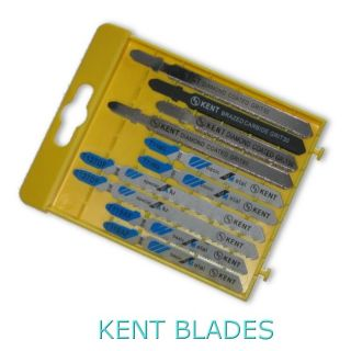 Kent 10 pcs pack Assorted T-Shank Jig Saw Blades For Most Metal, Aluminium, Granite, Ceramics, Cement