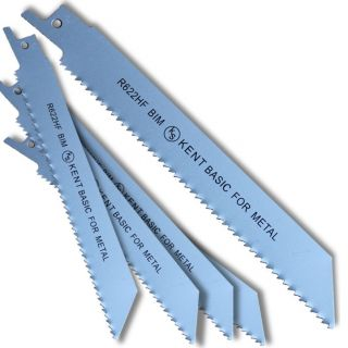 "5pcs Set of KENT R622HF 6"" Bi-Metal 10TPI Flexible Reciprocating Saw Blades Wood with Metal"