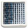 Kent 100 Assorted Grit 150 Diamond Rubber Polishing Rotary Burrs With 3mm (1/8 inch) Shank