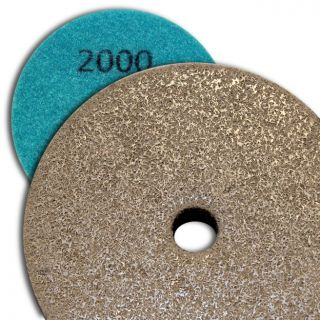 4 inch Kent Grit 2000 Diamond Sponge Fiber Pad for Marble Floors