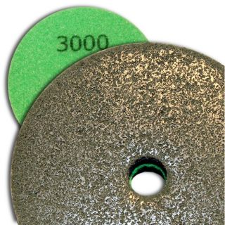 4 inch Kent Grit 3000 Diamond Sponge Fiber Pad for Marble Floors