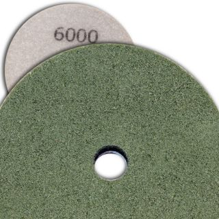 4 inch Kent Grit 6000 Diamond Sponge Fiber Pad for Marble Floors