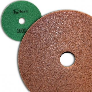 5 inch Kent Grit 1000 Diamond Sponge Fiber Pad for Marble Floors