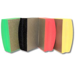 KENT 4 Premium Assorted COARSE Grits Ergonomic Foam Back Diamond Hand Polishing Pads