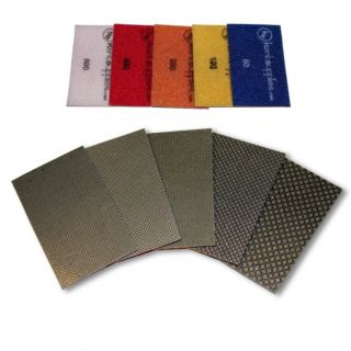 KENT 5 Assorted Grits Premium Diamond Polishing Sheets For Granite Stone Glass