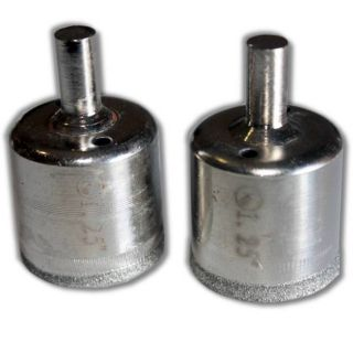 "2 pieces 1-1/4"" inch Kent Diamond Coated Core Drill Bits Hole Saws"
