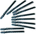 "Kent T244D, 10 Pack 4"" 5-6 PRO TPI, HCS T-Shank Jig Saw Blades, For Curved and Fast Cuts in Hard and Soft Woods"