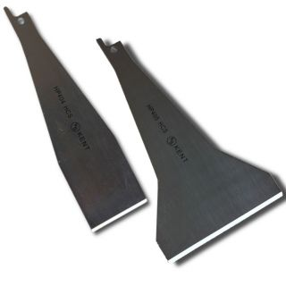 Set of 2 Assorted KENT SCRAPERS Attachment Blades for Reciprocating Saw