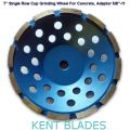 "7-inch Diamond Cup Grinding Wheel Single Row Grit 30~40, 5/8""-11 Threaded Adaptor Hole, For Concrete"