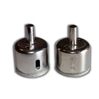 "2 pieces 1-1/2"" inch Kent Diamond Coated Core Drill Bits Hole Saws"