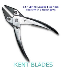 "5.50"" Flat Nose Parallel Pliers With Smooth Jaws and Spring Loaded"