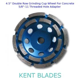 "4.5-inch Diamond Cup Grinding Wheel Double Row Grit 30~40, 5/8""-11 Threaded Arbor Hole, For Concrete"