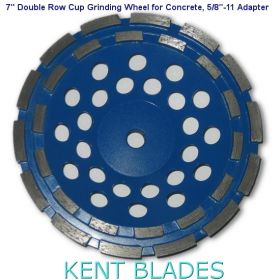 "7-inch Diamond Cup Grinding Wheel Double Row Grit 30~40, 5/8""-11 Threaded Adapter Hole, For Concrete"