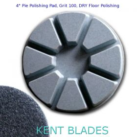 "4"" (100mm) Grit 100, Pie Polishing Pad, Dry Use, Velcro Type Backing"