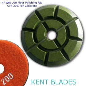 """4"""" (100mm) Grit 200, Floor Polishing Pad, Wet Use for Cement"""