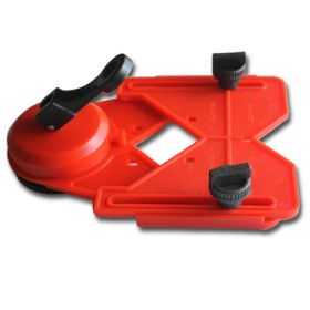 """6"""" x 8"""" Plastic Drill Guide with Suction Cup for Hole Saw and Core Drill Bits"""