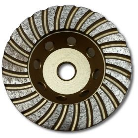 KENT 4-inch Turbo Double Row Diamond Cup Grinding Wheel, Grit 70~80 For Granite, Economy Quality