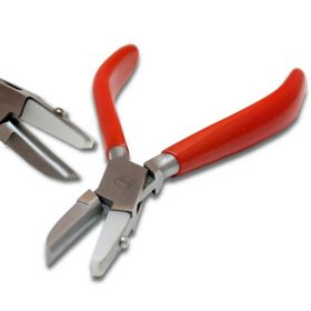"5.5"" Flat And Half Round Steel Jaws Combination Plier With 3/8"" Nylon Flat Jaw"