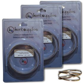 """Set of 3 x 37"""" Replacement Diamond Band Saw Blade For XL, 3000XL, Gryphon,C40"""