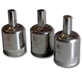 """3 pieces 1"""" inch Kent Diamond Coated Core Drill Bits Hole Saws"""
